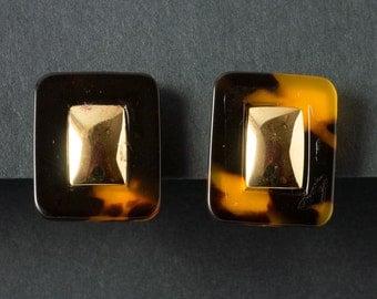 Vintage Napier Tortiseshell Earrings