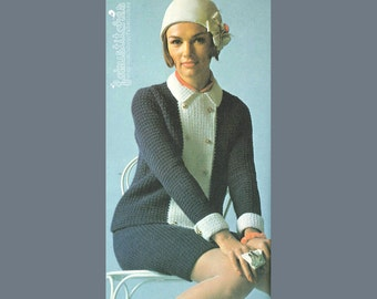 70s Woman's Business Suit - Vintage Crochet Pattern - INSTANT PDF DOWNLOAD – 200682