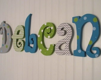 Nursery decor, Nursery wall decor, Hanging nursery letters, baby boy nursery letters, nursery decor, nursery wall letters,