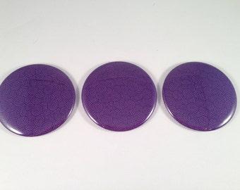 Purple Swirl Pocket Mirrors