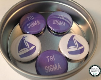 Tri-Sigma Magnet Set, Sigma Sigma Sigma