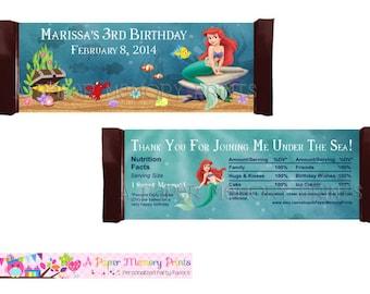 My Little Mermaid Candy Wrapper - DIY Printable