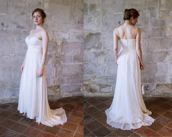 Simple Silk Chiffon Wedding Dress Beach With By AlesandraParis