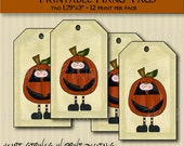 Pumpkin Boy hang tags #524-ht3