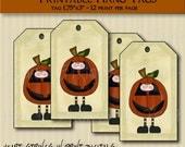 Pumpkin Boy hang tags #524-ht3