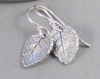 Sterling Rose Leaf,Earrings,Silver Earrings,Silver Leaf Earrings,Nature,Leaf,Leaves,Sterling Silver Earrings. Handmade by SeaMaidenJewelry