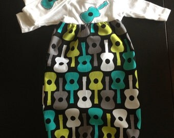 Baby guitar gown set