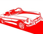 MG (MGB) Convertible. Choose your Size, Material, Color, & Model Year Customizations