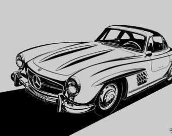 mercedes benz 300sl gullwing choose your size material colors