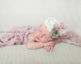 "Beautiful  lace baby headband The ""Elena"", Baby hair accessories, Girls hair accessories, Girls photo prop, Baby photo prop"