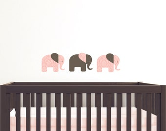 Elephants Fabric Wall Stickers/Wall Decals