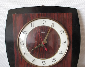 Vintage French VEDETTE  wall clock 1970's