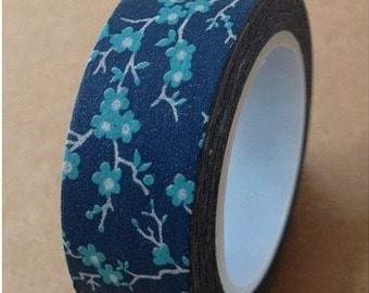 Flower Washi Tape -- Japanese Washi Tape -Deco tape-- 15mm x 10M