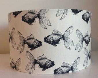Retro fish print lampshade