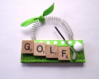 Golf Scrabble Tile Ornament