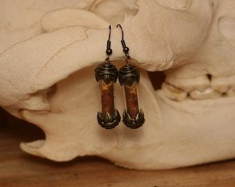 Imperial moth wing earrings
