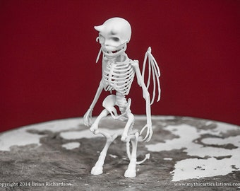Imp Skeleton 3D Print Taxidermy Sculpture
