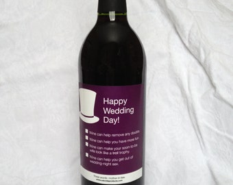 Funny Wine Label-For Groom