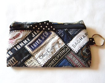 SALE!!! Quilted/Patchwork Clothing Label Wallet, Credit Card Holder, ID Holder, Coin Purse