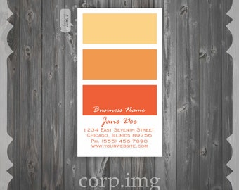 OMBRE Business Card / Mommy Card / Calling Card - PREMADE Business Card Design - CUSTOMIZE colors and content