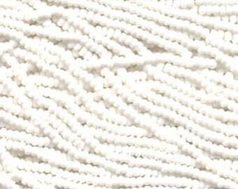 Seed Beads, 11/0, 6 String Hank, Mini Hanks, Chalk White, Value, Glass Beads, 18 Grams, Appox. 1000 Beads, #002