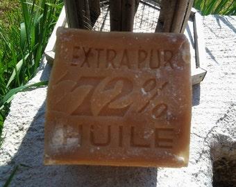 """French antique large soap """"savon de Marseille"""""""