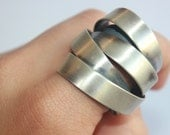 Handmade Armour Silver Ring /  Israeli Jewelry by Vered Laor