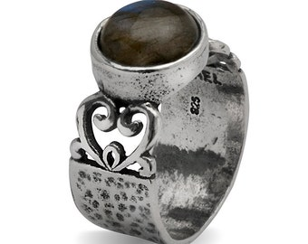 Shablool didae Handcrafted Labradorite Sterling Silver 925 Ring
