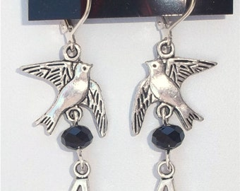 Divergent Dauntless inspired tribute 4 Silver Earrings