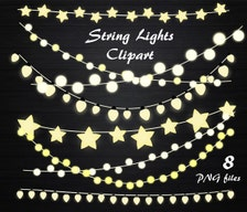 String Lights Clipart String Lights Clip Art Lights Clipart Wedding Invitation