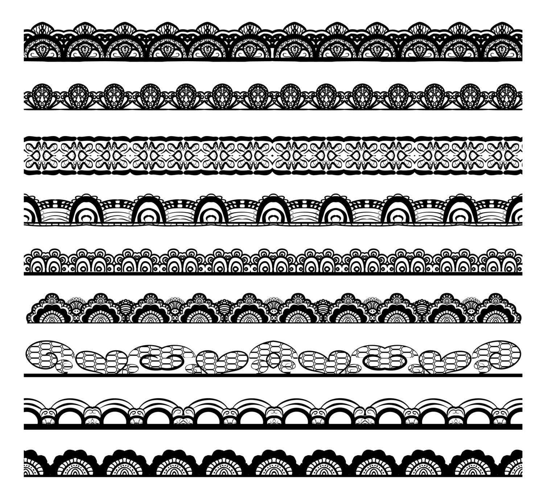 Lace Border Clip Art Digital Clipart lace digital clipart