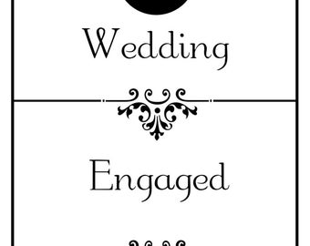 corn hole board wedding game vinyl decal set for corn hole