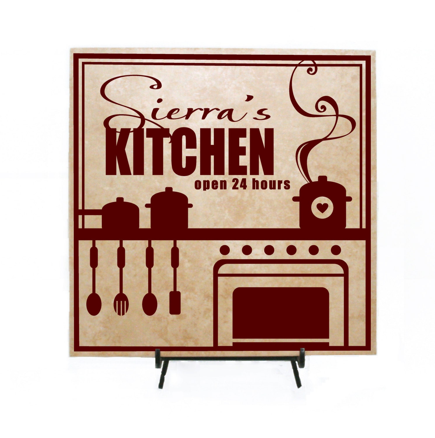 Personalized Kitchen Sign Personalized Wood Sign By Levinyl