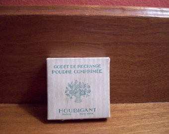 Antique Houbigant French Powder Refill - Godet De Rechange Poudre Comprimee - ca. 1920's