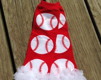 Baseball ruffle leg warmers - sport leg warmers