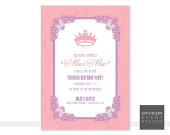 Printable Princess Invitation