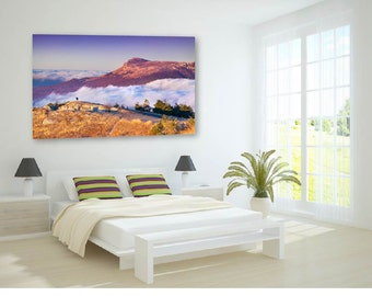 Purple Mountain Canvas Removable Wall Mural