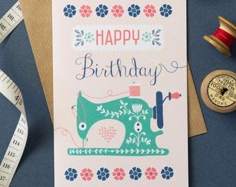 Sew Happy Birthday Card