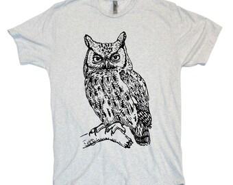 OWL vintage retro style Tri-Blend super soft t-shirt