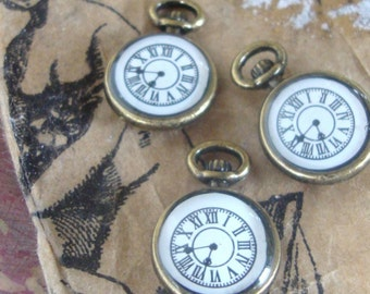 Steampunk Watch Charms,time piece charms,Wonderland Charms