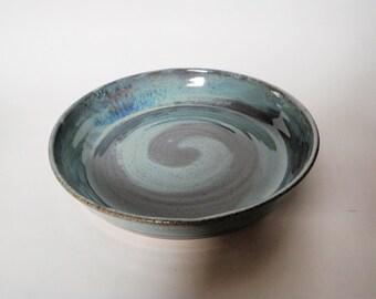 Blue Swirl Pie Plate