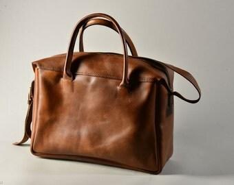 SPRING SALE -20% Men's Leather Travel Bag/Men's Leather Traveling Bag /Brown Leather Luggage / Large-size Leather Bag (just for order)