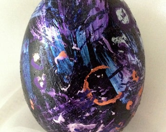 Hand Painted Easter Egg - Night