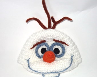 Olaf Snowman Frozen  Hat - Disney Hat  Wig - Halloween Baby Hat -Halloween / Cosplay / Baby Shower Gift