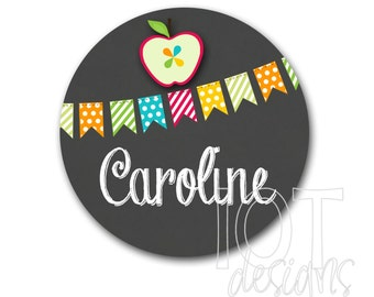 Back to School - Fall - Autumn - IRON ON TRANSFER -Personalized - Initial - Photo Prop - Iron on Transfer for and Shirts - B2S003