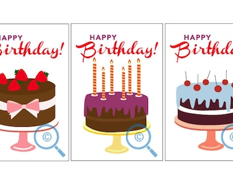 Birthday Card Series ( 9 cards )