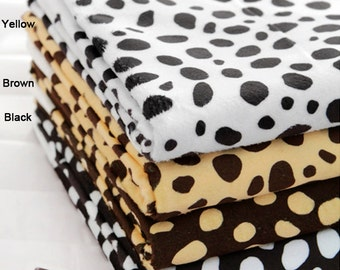 Soft Cuddle Minky Fabric Dalmatian in 4 Colors By The Yard