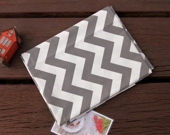 Twill Cotton Fabric Chevron Gray By The Yard