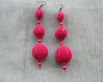 crochet Earrings + Necklace