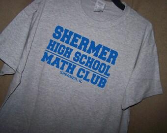 THE BREAKFAST CLUB Shermer High School Math Club T Shirt